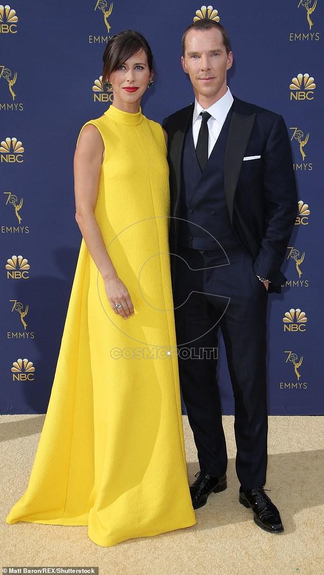 Mandatory Credit: Photo by Matt Baron/REX/Shutterstock (9883791kb) Sophie Hunter and Benedict Cumberbatch 70th Primetime Emmy Awards, Arrivals, Los Angeles, USA - 17 Sep 2018