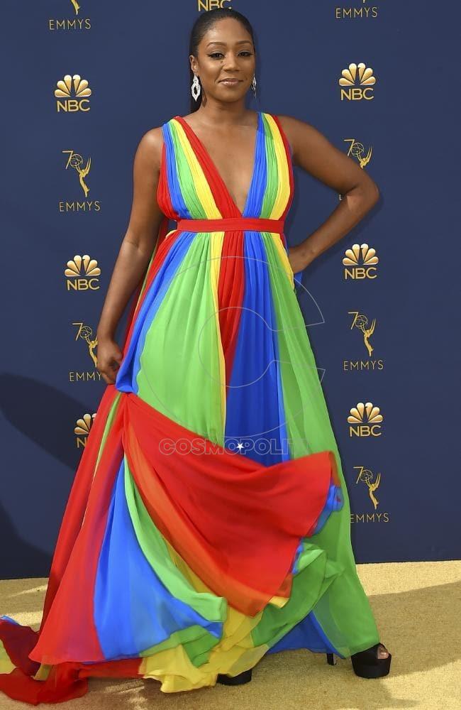 Tiffany Haddish dressed as Mariah Carey's most underrated album, Rainbow