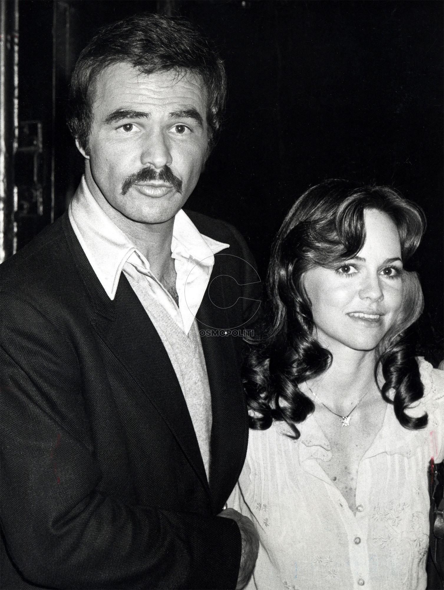 Burt Reynolds and Sally Field during Bert Reynolds and Sally Field Sighting at Steak Pit Restaurant - March 15, 1978 at Steak Pit Restaurant in Los Angeles, California, United States. (Photo by Ron Galella/WireImage)