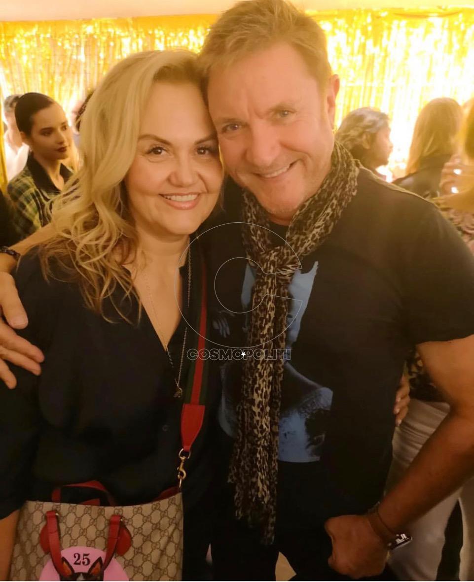 πO Simon le Bon με την beauty guru Caroline Hirons στο Liberty