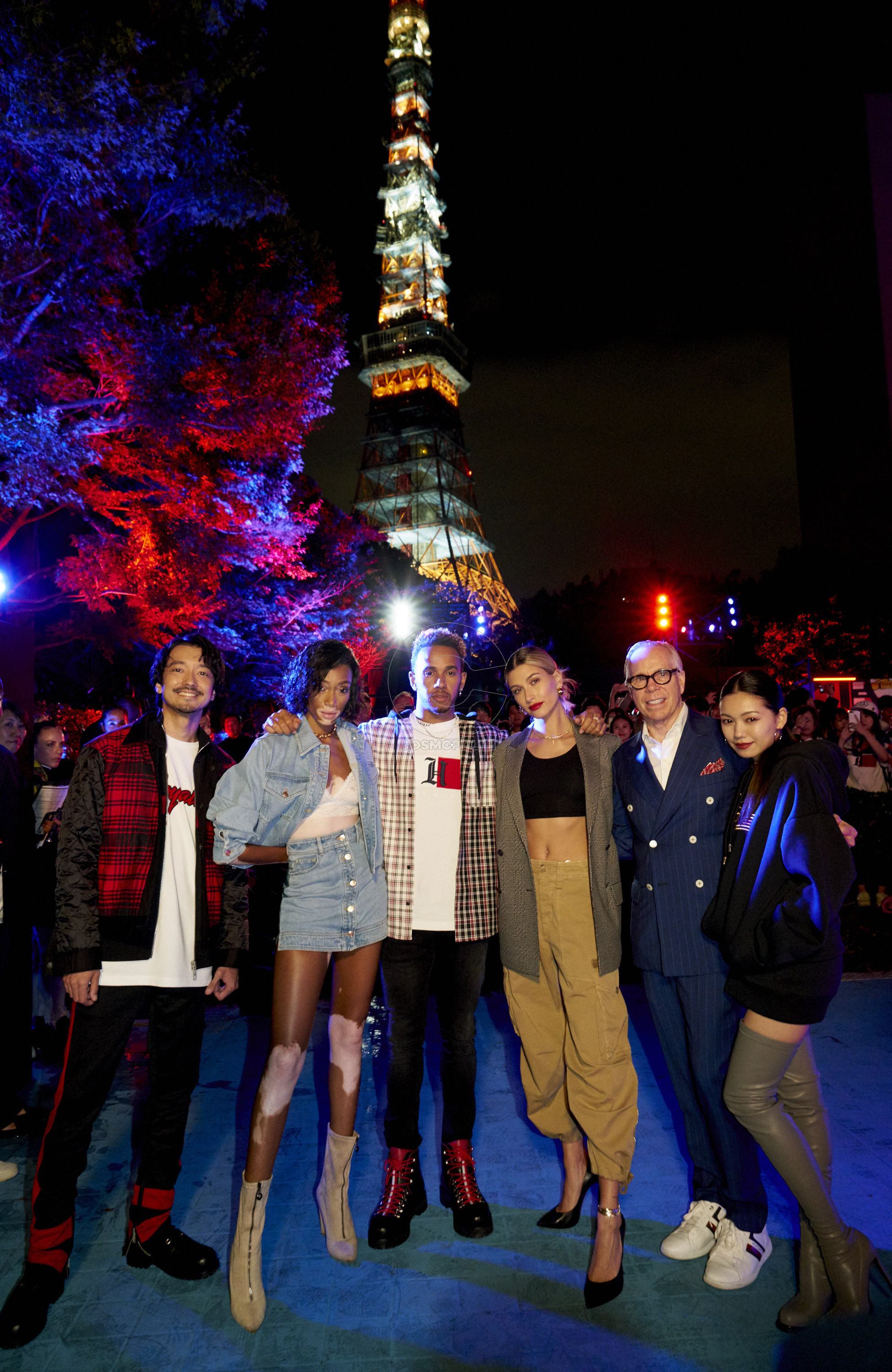 Nobu, Winnie Harlow, Lewis Hamilton, Hailey Baldwin, Tommy Hilfiger and Fumi