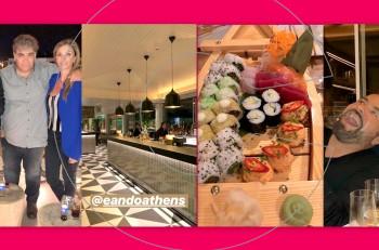 Bραδιά γευσιγνωσίας με φίλους στο εστιατόριο E&O στον όγδοο όροφο του Athens Marriott Hotel
