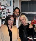 2 Ο συγγραφέας Σταύρος Ζαφειράκης, η Κλαίρη Καρύδα κια η Κατερίνα Παπαμηχαήλ του ΠΚ20