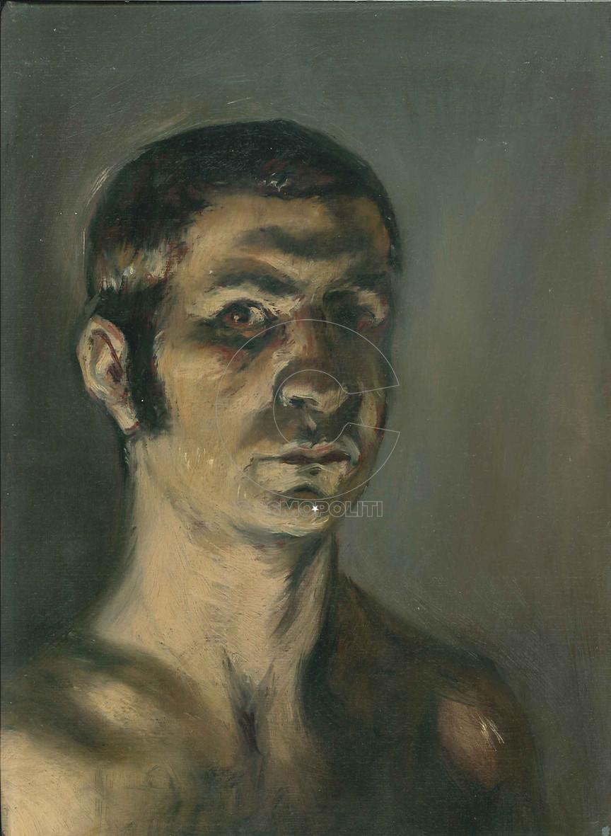 Αυτοπροσωπογραφία, 18Χ24, Λάδι σε μουσαμά, 1994