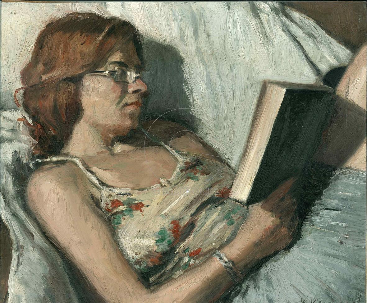 Η Μαργαρίτα που διαβάζει , 35Χ32, Λάδι σε μουσαμά, 2017