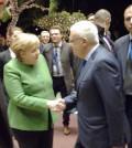 Χαιρετισμός κου Σ.Διβάνη με την καγκελάριο της Ομοσπονδιακής Δημοκρατίας της Γερμανίας, Άνγκελα Μέρκελ στο Divani Apollon Palace & Thalasso