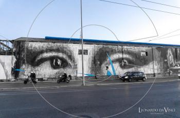 Τοιχογραφία στην Αθήνα με πηγή έμπνευσης τον Λεονάρντο Ντα Βίντσι