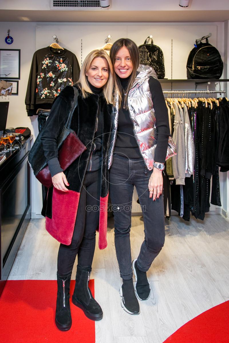 4 Η Πόλυ Στεφάνου με την fashion Influencer Χρισιάννα Ανδριοπούλου (Shoprano)
