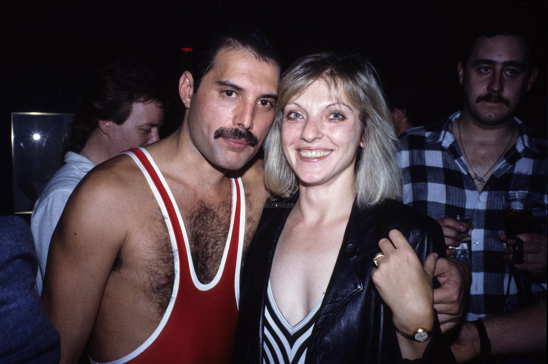 Mandatory Credit: Photo by Alan Davidson/REX/Shutterstock (7544066e) Freddie Mercury's 38th Birthday Party After His Wembley Arena Concert Freddie Mercury and Mary Austin Freddie Mercury's 38th Birthday - 05 Sep 1985