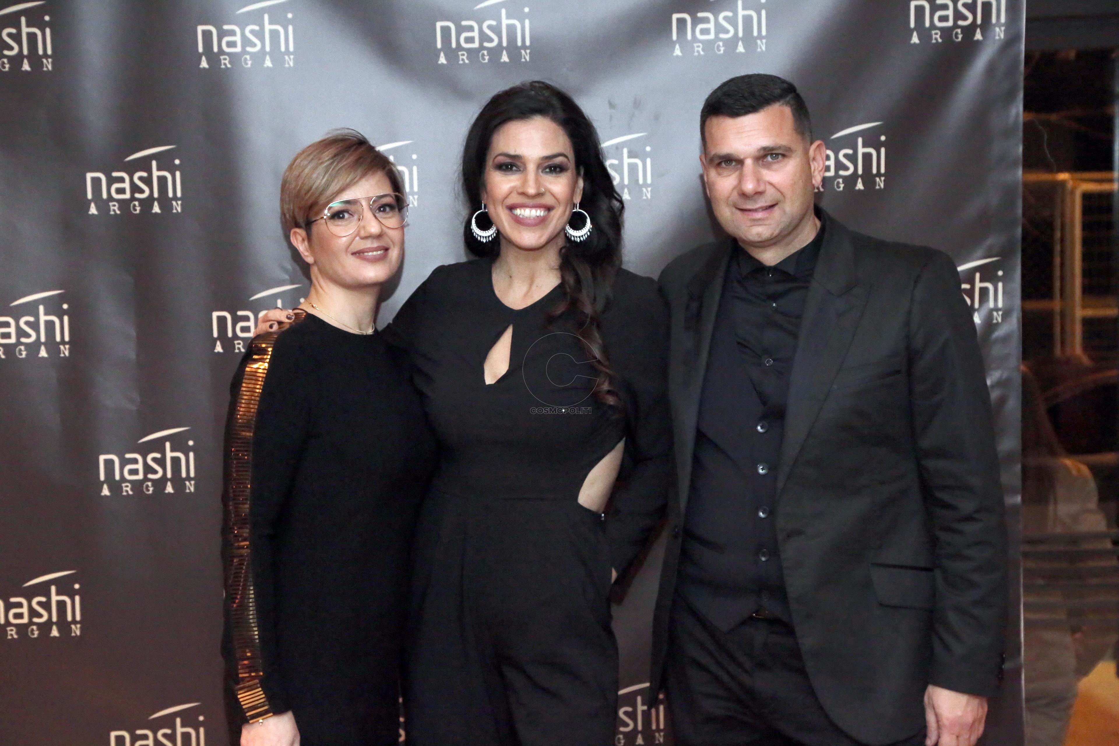 9.9 Αναστασία Ρουμελιώτη Product Manager Nashi Argan, με την Ναταλία Δραγούμη και τον Θοδωρή Βλάχο, Διευθυντή της label
