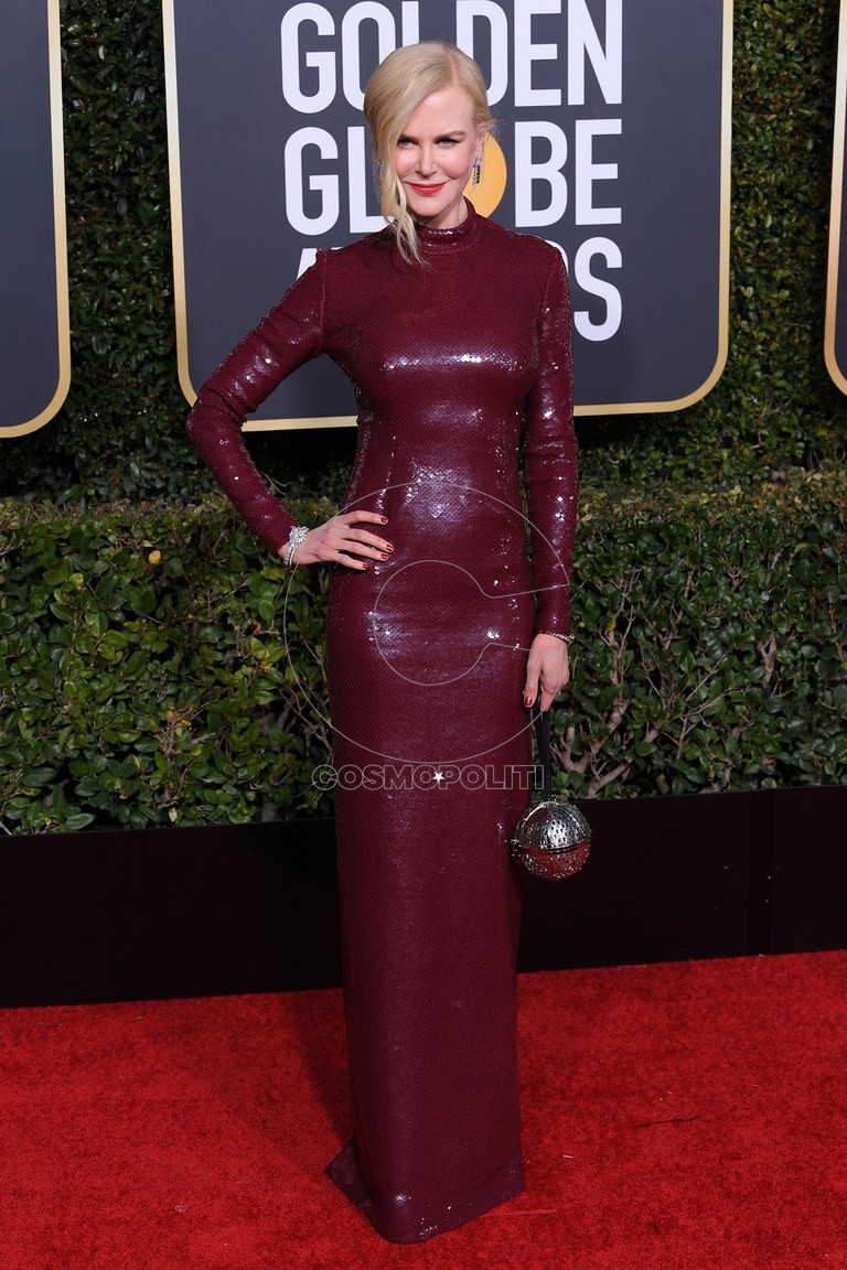 golden-globes-2019-red-carpet-Nicole-Kidman