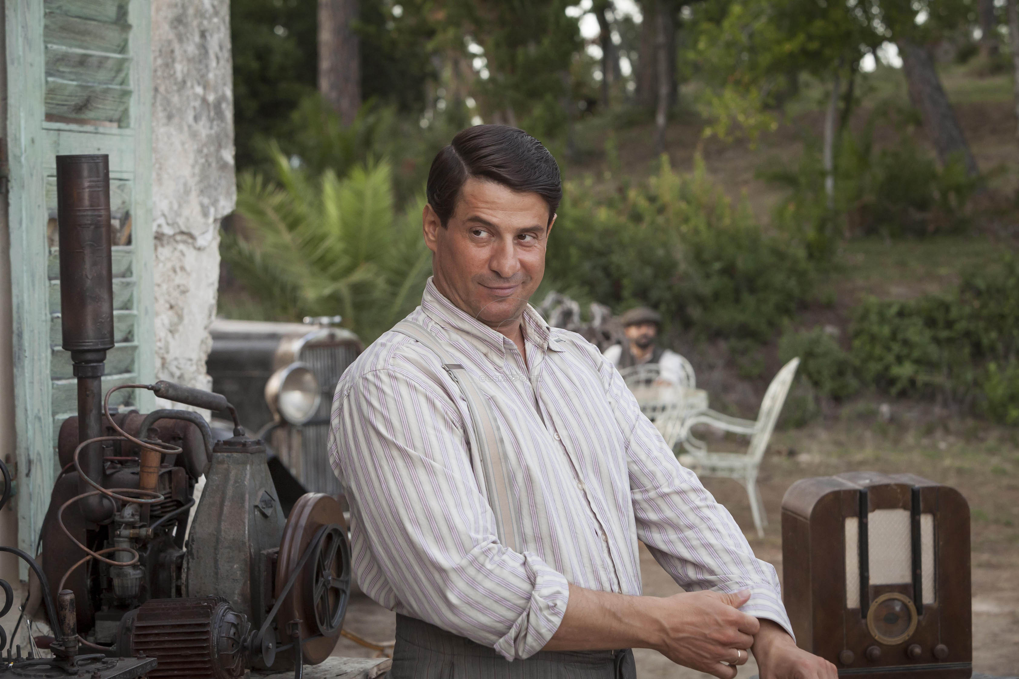 THE DURRELLS  EPISODE 5 Pictured:ALEXIS GEORGOULIS as Spiro. This image is the copyright of ITV and must only be used in relation the THE DURRELLS on ITV.