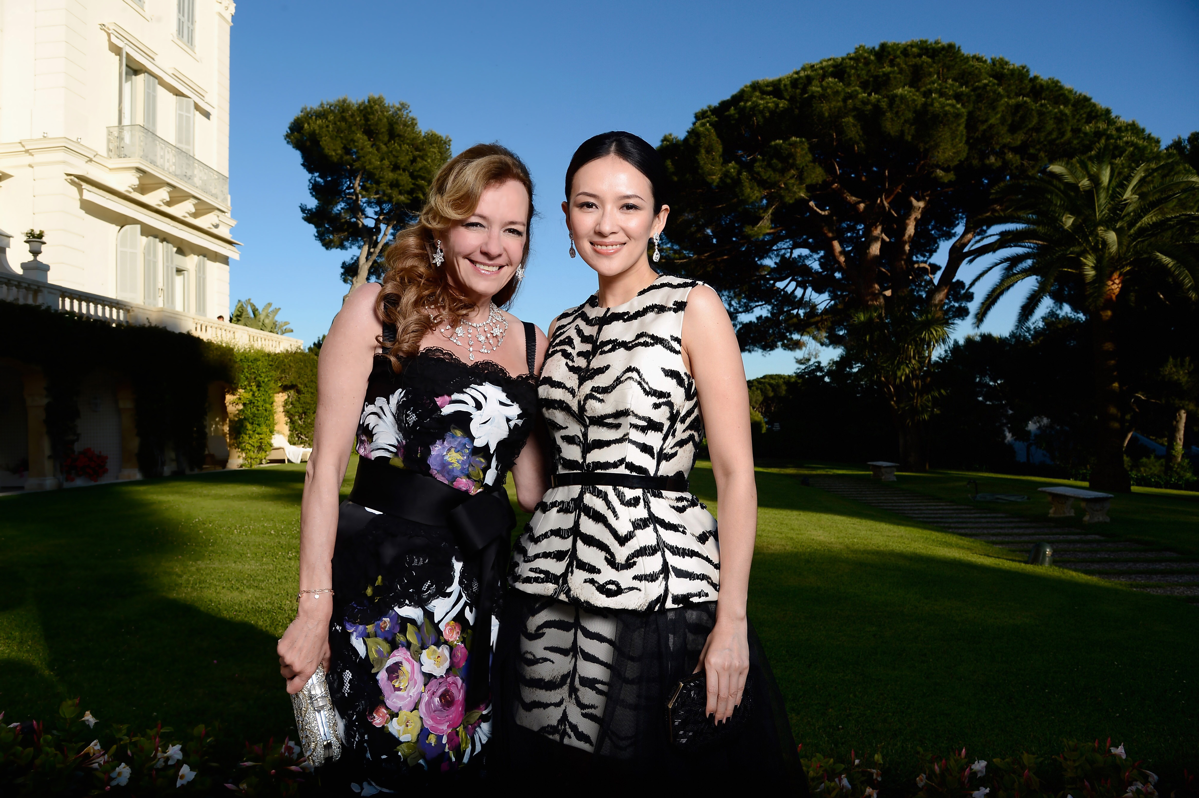 CAP D'ANTIBES, FRANCE - MAY 23: (EXCLUSIVE COVERAGE. HIGHER RATES APPLY) Co-President of Chopard Caroline Scheufele and Zhang Ziyi attend amfAR's 20th Annual Cinema Against AIDS during The 66th Annual Cannes Film Festival at Hotel du Cap-Eden-Roc on May 23, 2013 in Cap d'Antibes, France. (Photo by Pascal Le Segretain/amfAR13/Getty Images for amfAR)