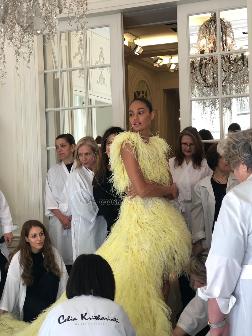 JOAN SMALLS WITH THE CELIA KRITHARIOTI TEAM