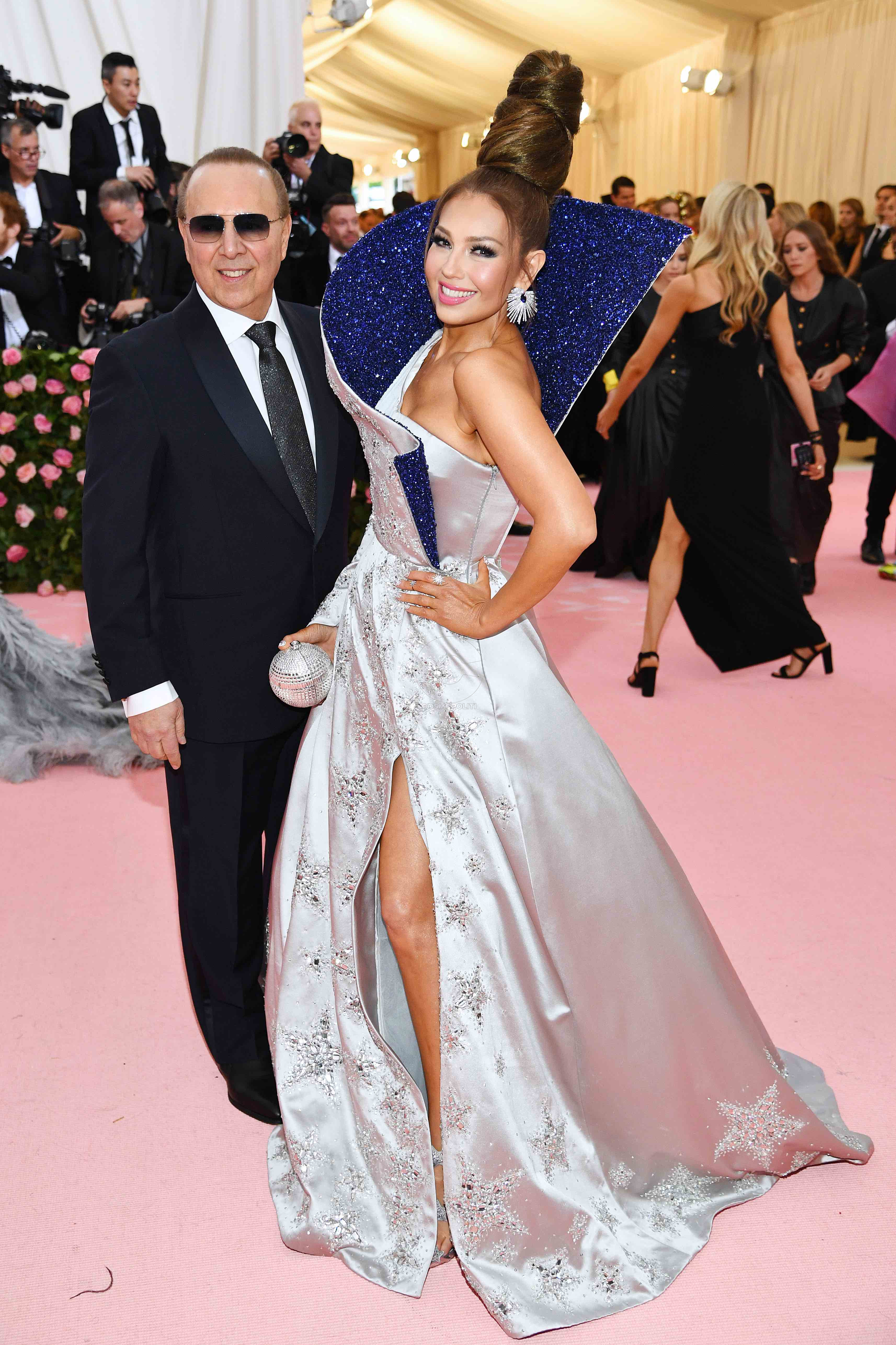 NEW YORK, NEW YORK - MAY 06: Tommy Mottola and Thalia attend The 2019 Met Gala Celebrating Camp: Notes on Fashion at Metropolitan Museum of Art on May 06, 2019 in New York City. (Photo by Dimitrios Kambouris/Getty Images for The Met Museum/Vogue)