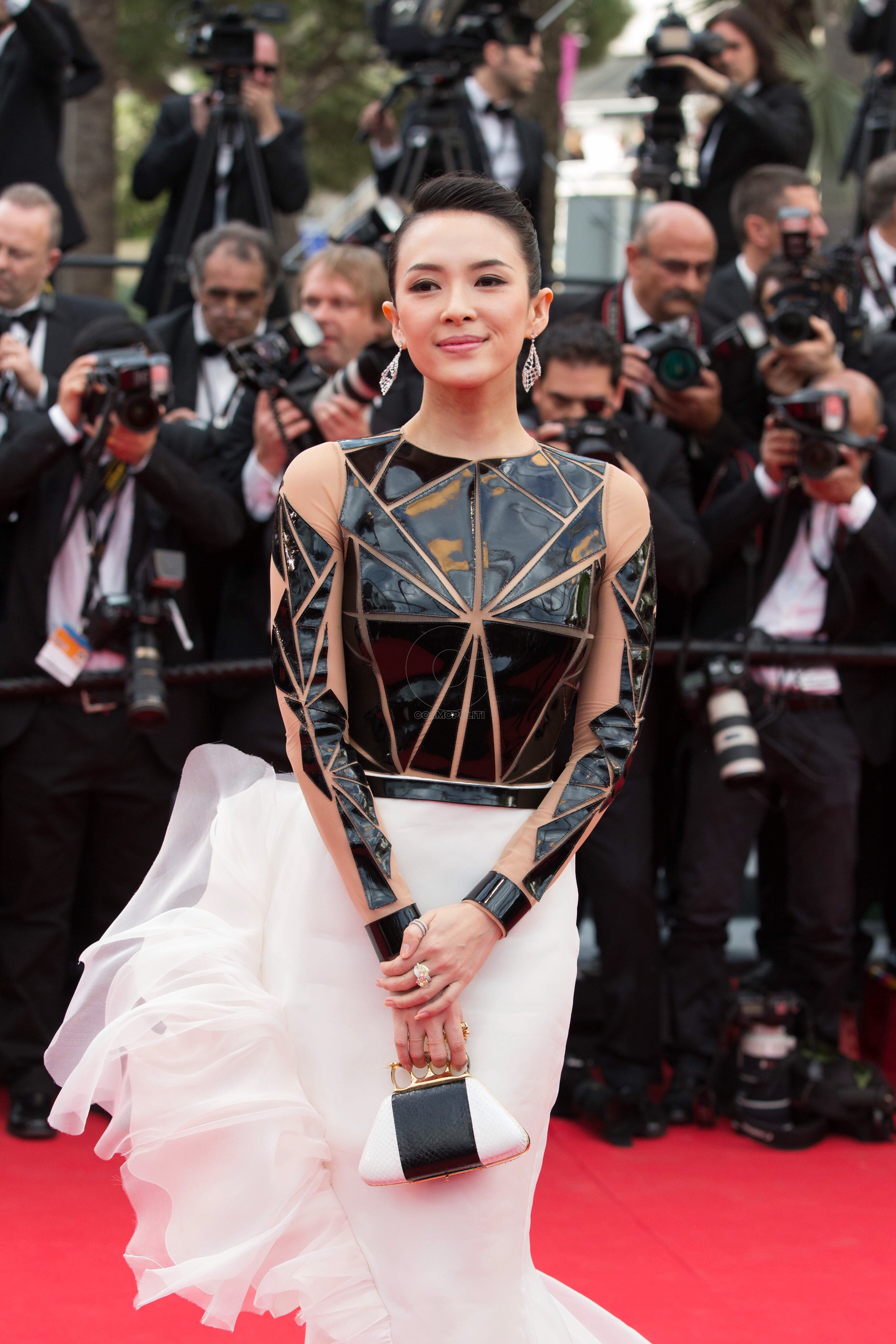 Zhang Ziyi in Chopard on the red carpet of the 67th Cannes Film Festival