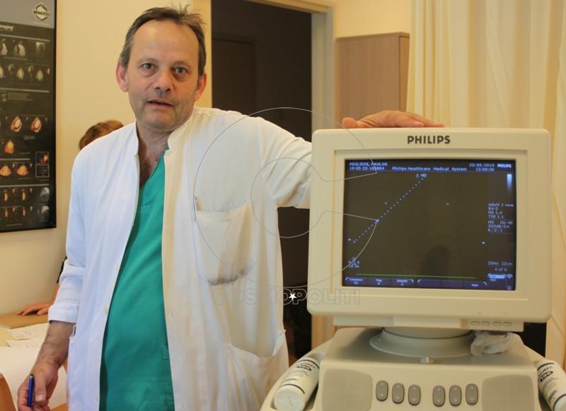 Ο καρδιολόγος κ Στέφανος Ζέζας κάνει triplex καρδιάς και τοποθετεί Holter σφυγμού