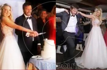 Στράτος Τζώρτζογλου & Σοφία Μαριόλα: Ερωτόκριτος, Αρετούσα, τούρτα και Ζορμπάς! Αποκλειστικό βίντεο από το γαμήλιο γλέντι!