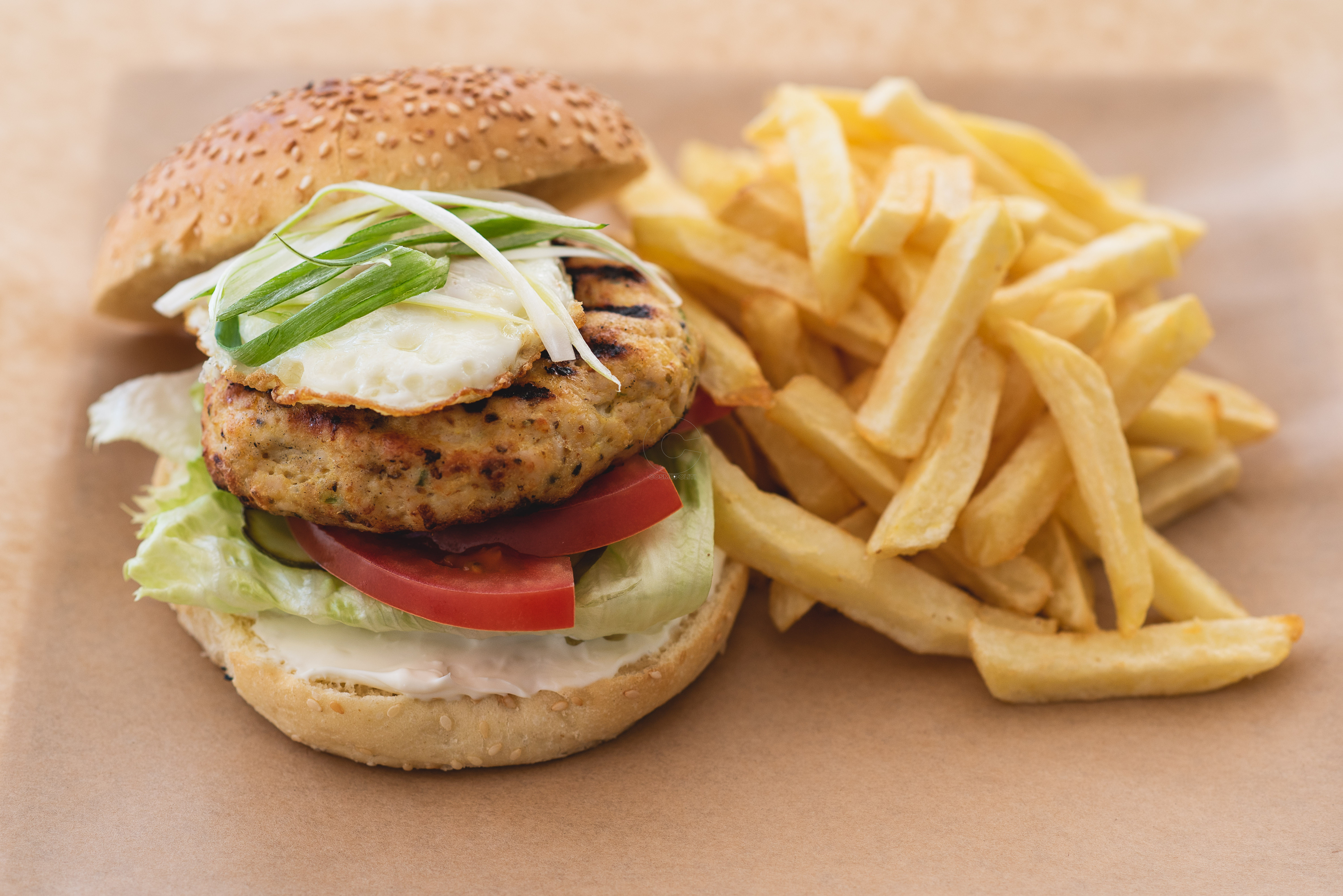 Turkey Burger with Fried Egg