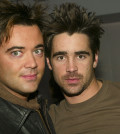 NEW YORK - APRIL 1:  (U.S. TABS OUT)  Actor Colin Farrell (R) and his brother Eamonn appear on MTV's Total Request Live April 1, 2003 at the MTV Times Square Studios in New York City.  (Photo by Scott Gries/Getty Images)