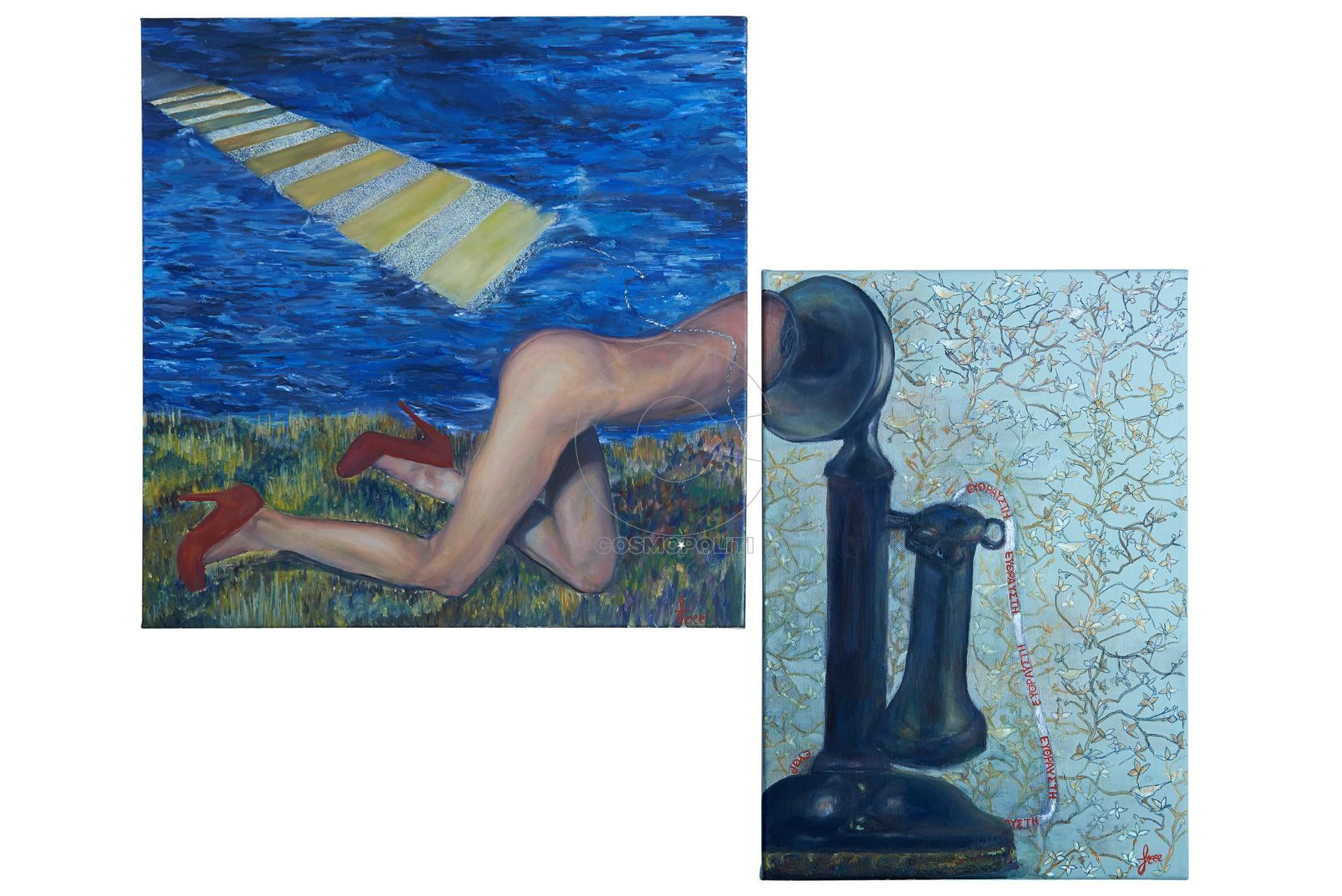 Eleftheria Christaki by Free, Fragile communication, mixed media
