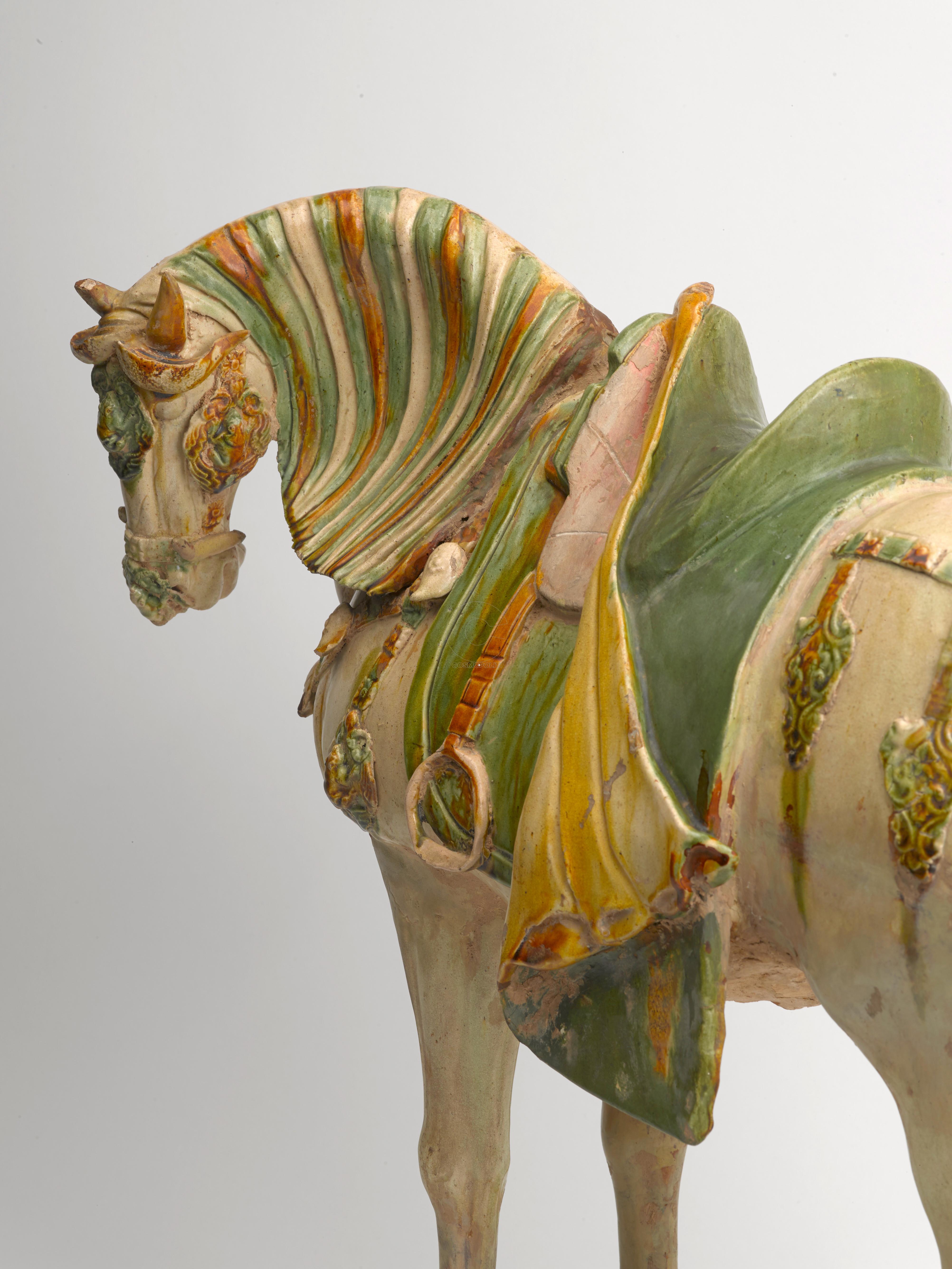Άλογο με ιπποσκευή, ταφικό ειδώλιο