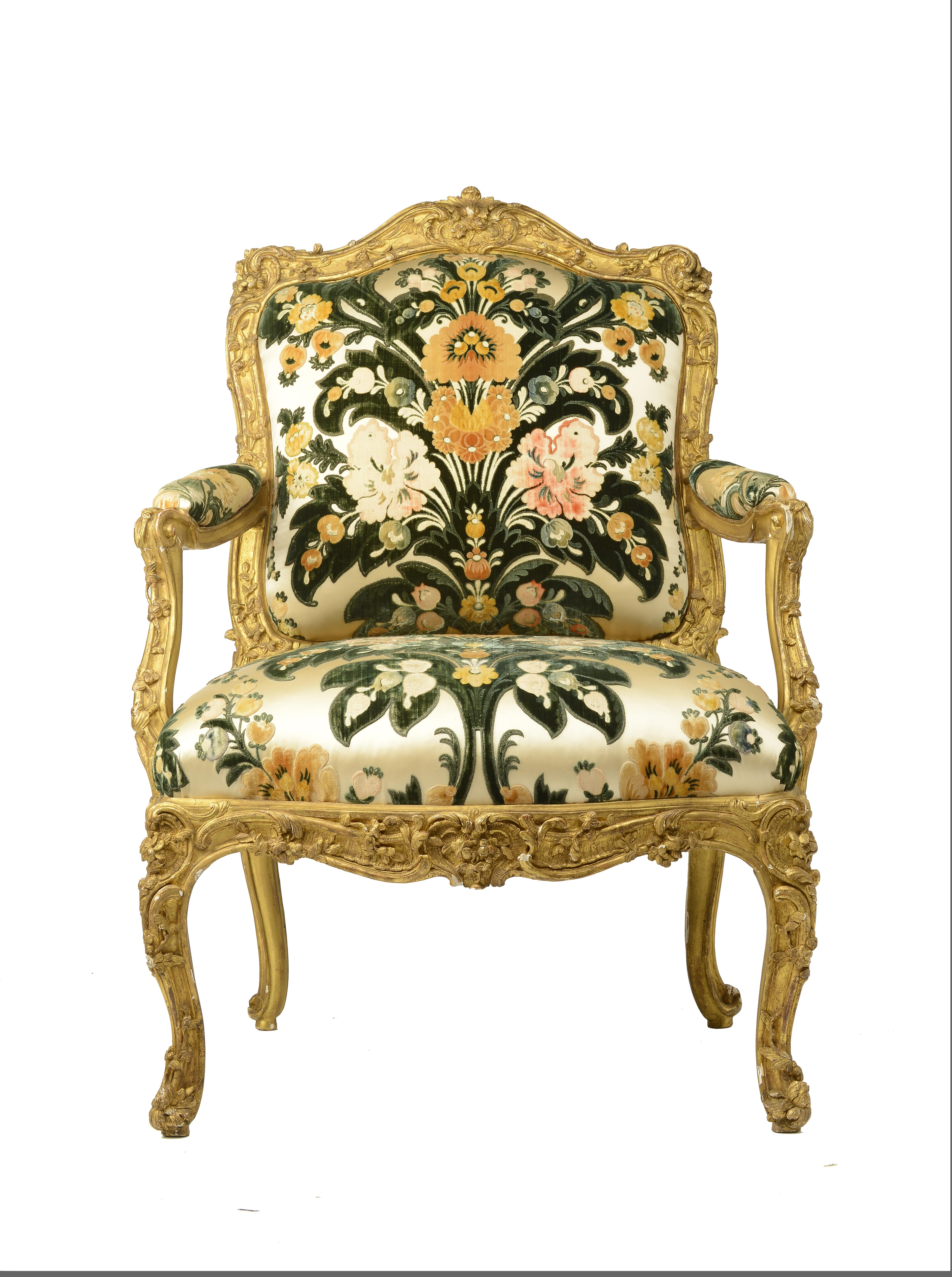 """Fauteuil """"à la Reine"""" Louis XV (2)"""