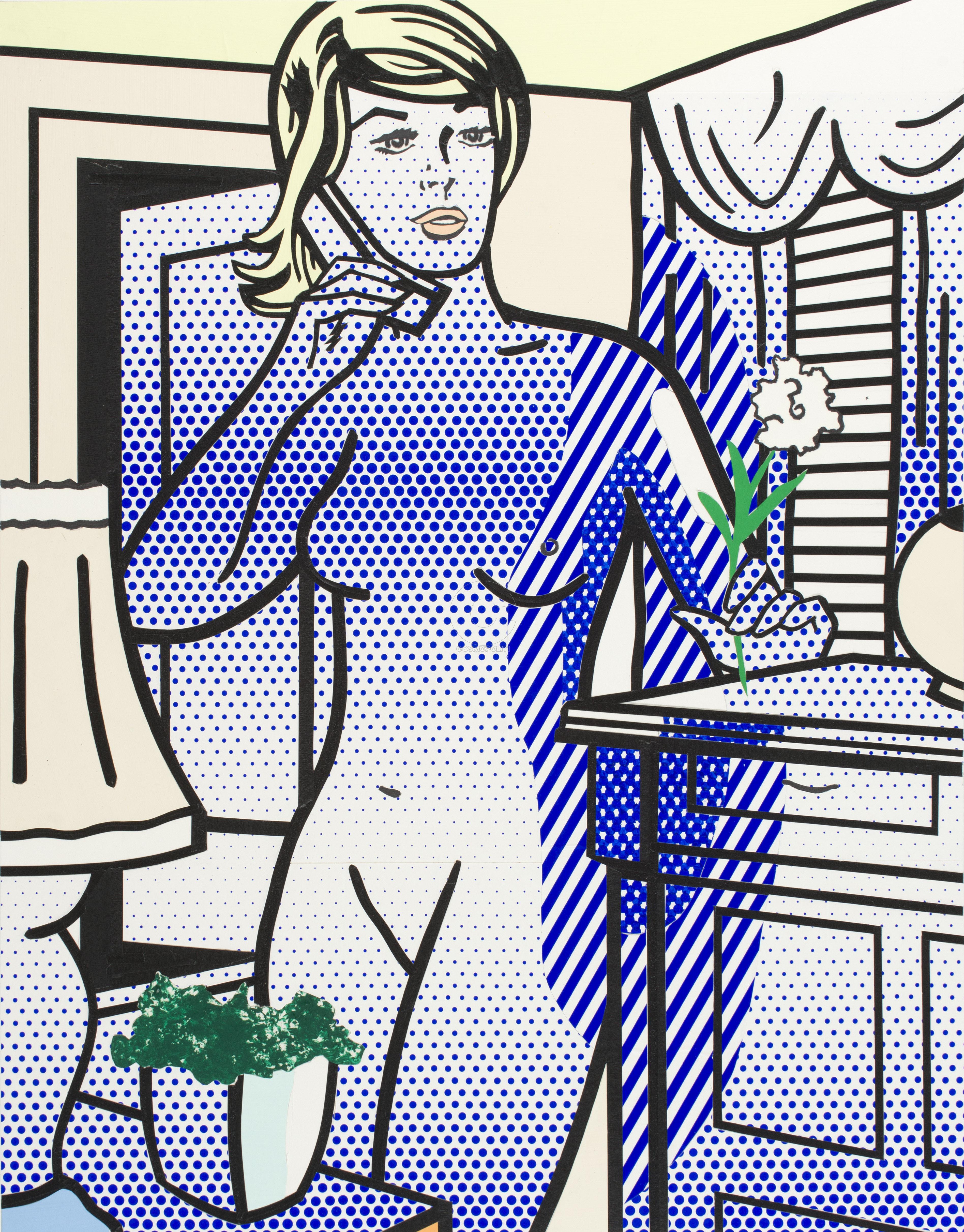 Lichtenstein Roy, Nude with White Flower