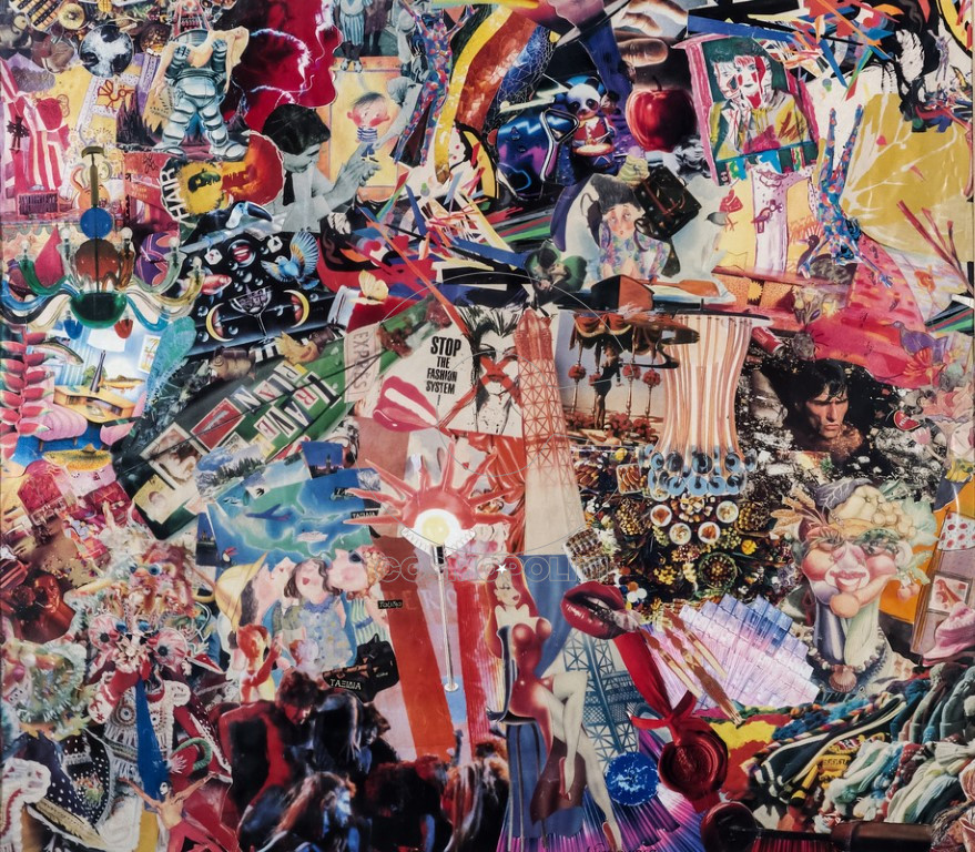 Γιαννακάρα Αργυρώ, Μαγικός κόσμος, 72x65cm, Κολάζ
