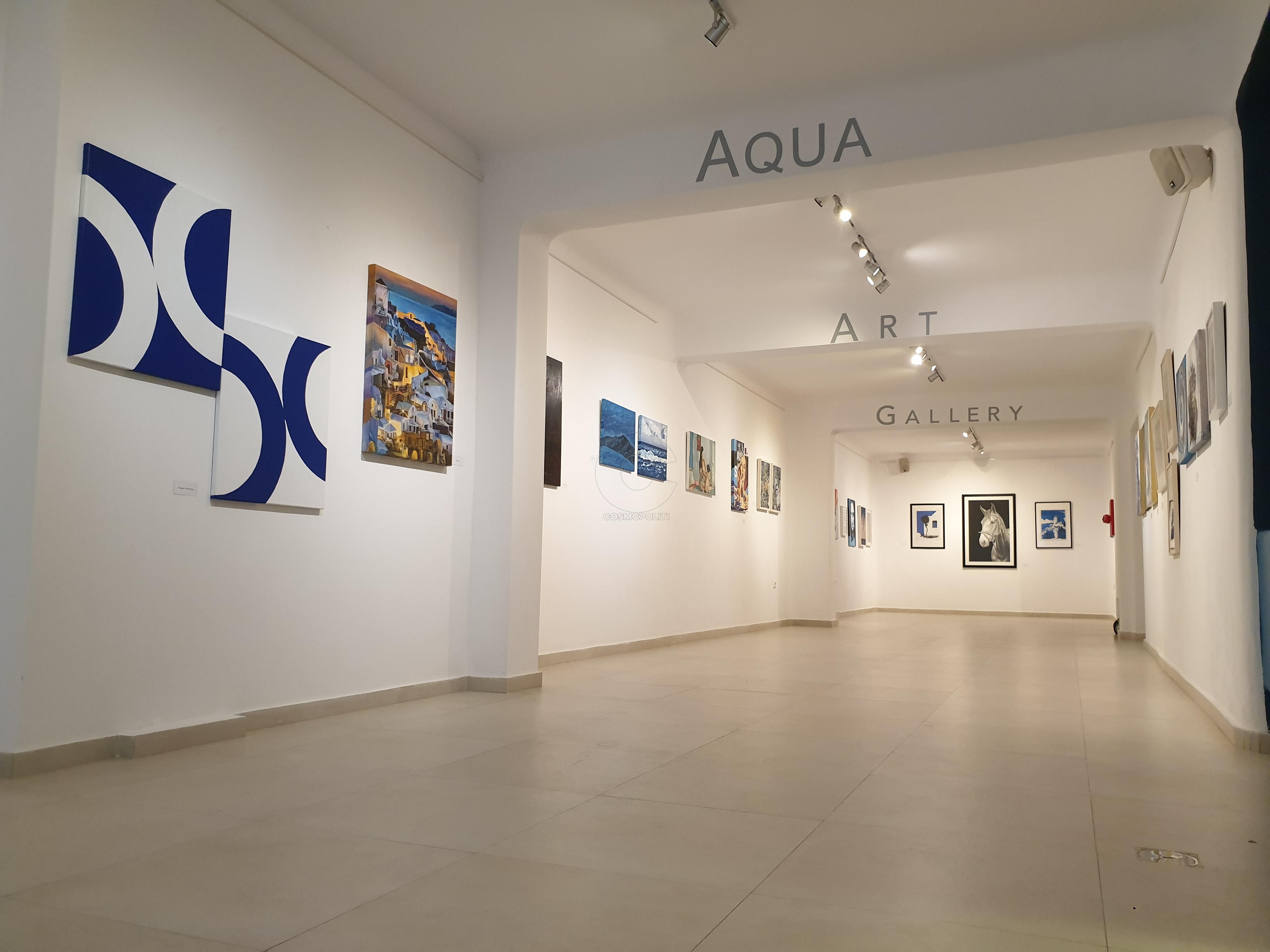 τελευταία ομαδική εικαστική έκθεση στην Aqua Gallery του ξενοδοχείου Art Hotel_ Σαντορίνη