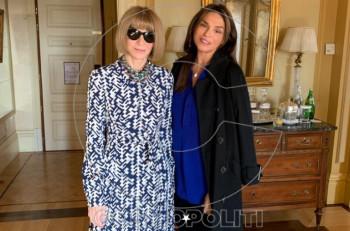 Anna Wintour – Σίλια Κριθαριώτη: Η συνάντηση της διεθνούς φήμης σχεδιάστριας με την «ιέρεια» της μόδας!