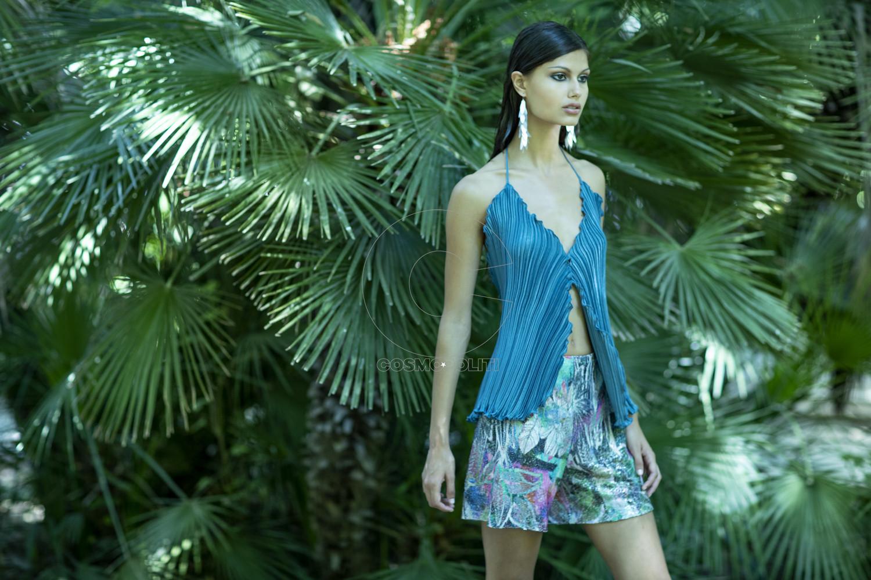 Daphne Valente SS 2020 Delphinium top & Hyacinth shorts