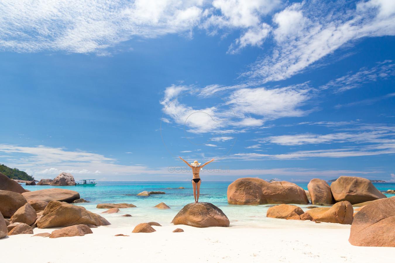 Seychelles lifestyle at Anse Lazio Praslin