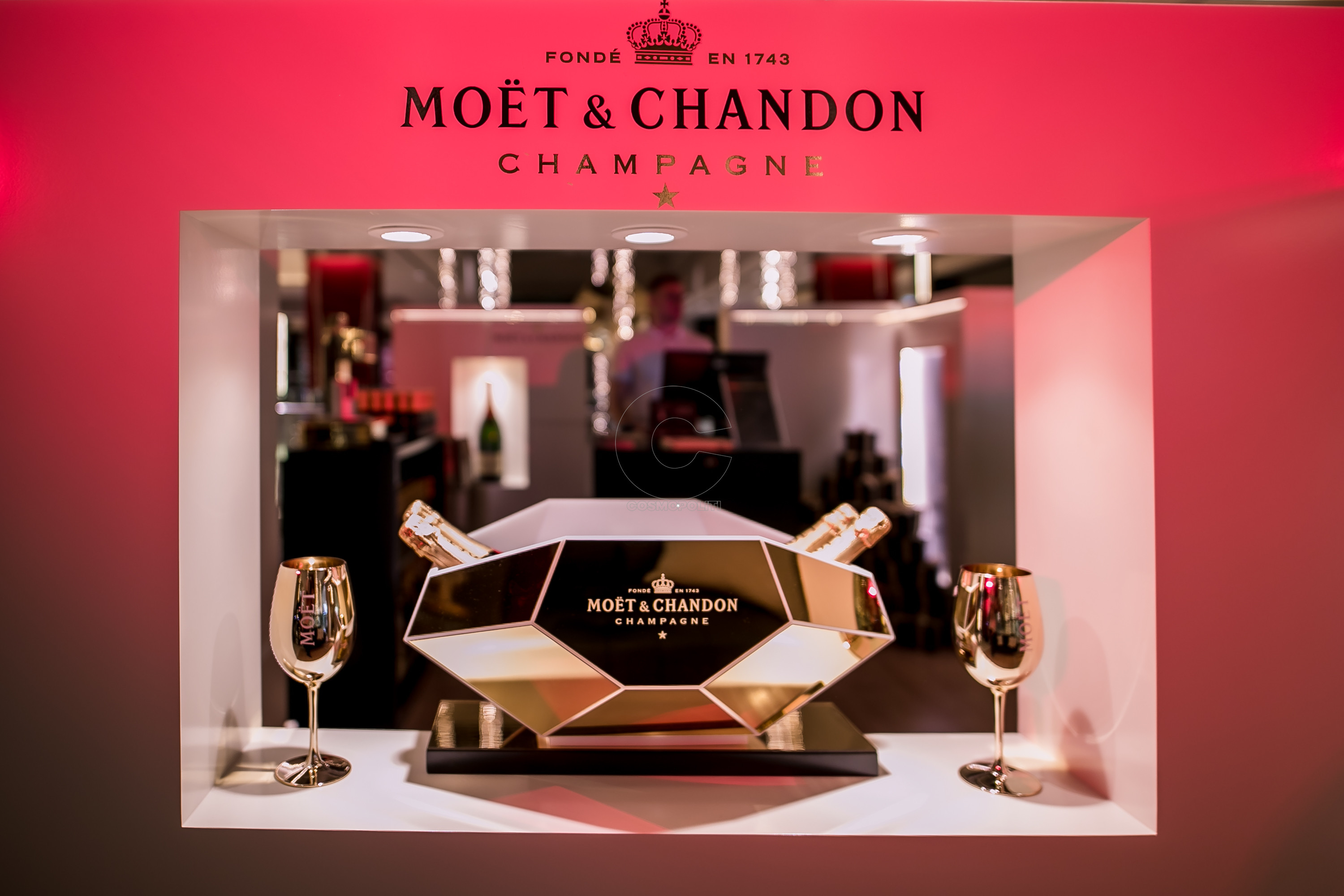 MOET Pop up store at Golden Hall