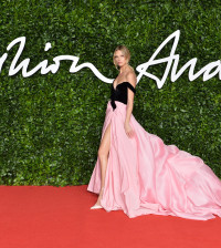 LONDON, ENGLAND - DECEMBER 02: Nadine Leopold arrives at The Fashion Awards 2019 held at Royal Albert Hall on December 02, 2019 in London, England. (Photo by Jeff Spicer/BFC/Getty Images)