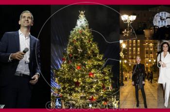 Η φαντασμαγορική φωταγώγηση του Χριστουγεννιάτικου δέντρου στο Σύνταγμα