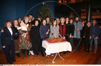 """Κοπή πίτας για το """"Έγκλημα στο Orient Express"""" στο θέατρο Κάτια Δανδουλάκη"""