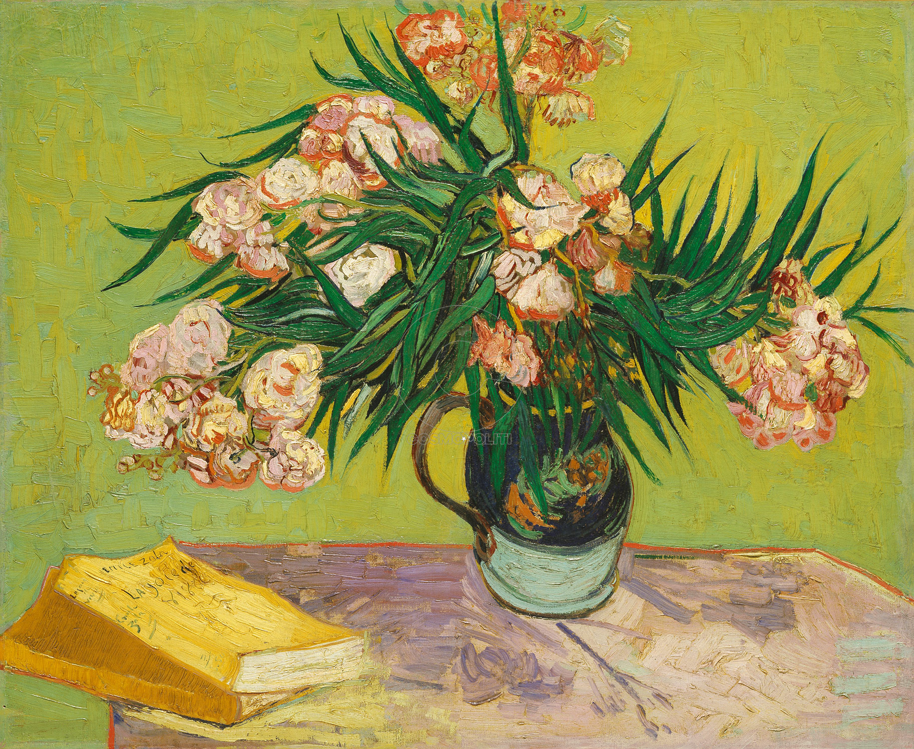 Working Title/Artist: Oleanders Department: European Paintings Culture/Period/Location: HB/TOA Date Code: Working Date: 1888 photographed by mma in 1997, transparency 4a scanned by film & media 9/18/04 (phc)