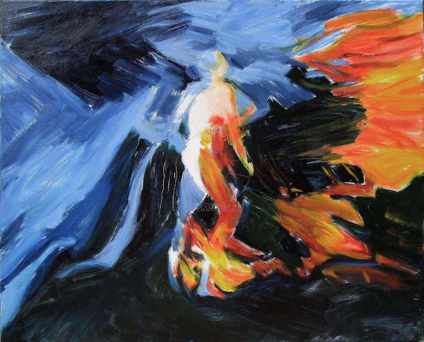 Μαρία Ντάρλα - Maria Darla, Κατακτητής - Conqueror, 40X50cm, Λάδι σε καμβά - Oil on canvas