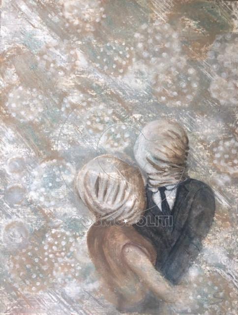 Σουζάνα Παπακαλιάτη - Suzana Papakaliati, The need of contact, 54x42cm, Ακρυλικά σε καμβά - Acrylics on canvas