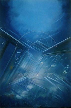 ARGY PAPPAS TSIOTA, LIGHT ON A WRECKAGE, 100x70cm, Παστέλ - Pastel