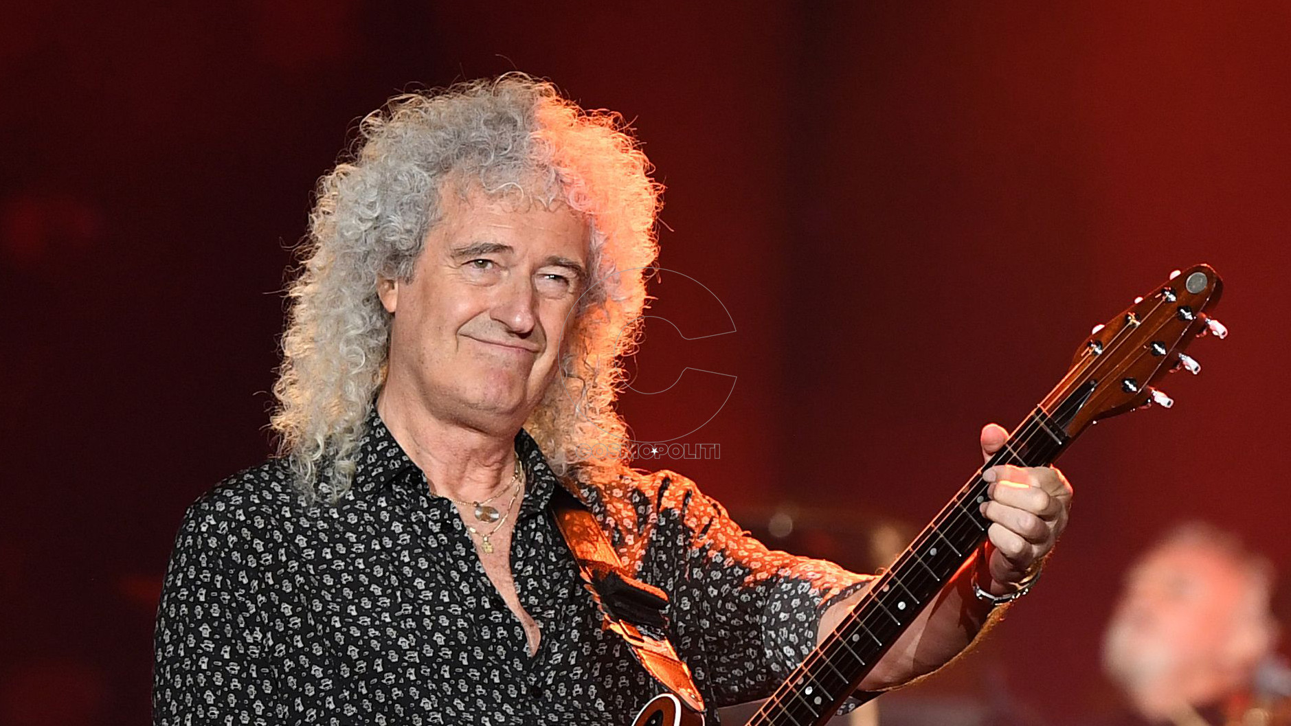 Mandatory Credit: Photo by JOEL CARRETT/EPA-EFE/Shutterstock (10557994cm) Brian May of Queen performs during the Fire Fight Australia bushfire relief concert at ANZ Stadium in Sydney, New South Wales, Australia, 16 February 2020. Thousands of people attended the concert, with 10 hours of musical performances, to raise funds for communities devastated by bushfires. Fire Fight Australia bushfire relief concert in Sydney - 16 Feb 2020