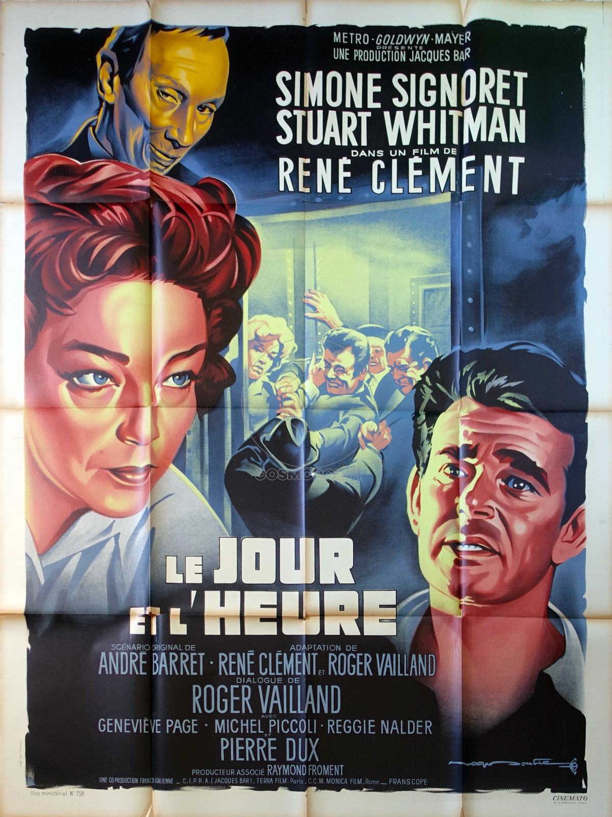 the-day-and-the-hour-original-movie-poster-47x63-in-1963-rené-clément-simone-signoret